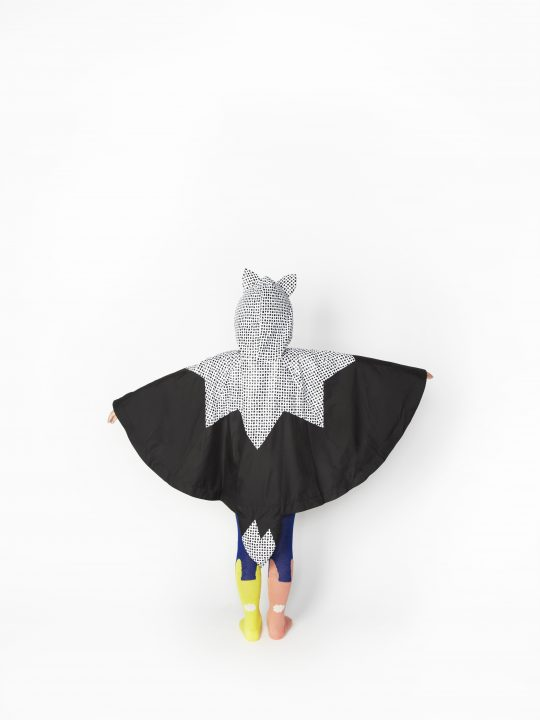 SS16 Fox Dot Poncho, Rabbit Tights, Back