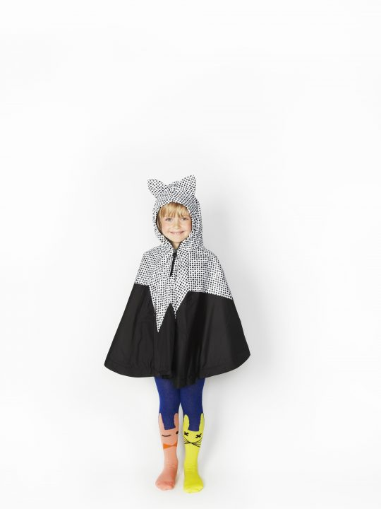 SS16 Fox Dot Poncho, Rabbit Tights, Front