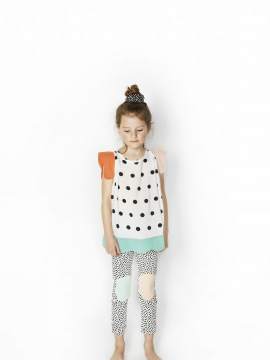 SS16 Jenny Top, Happy Legs Dot Leggings