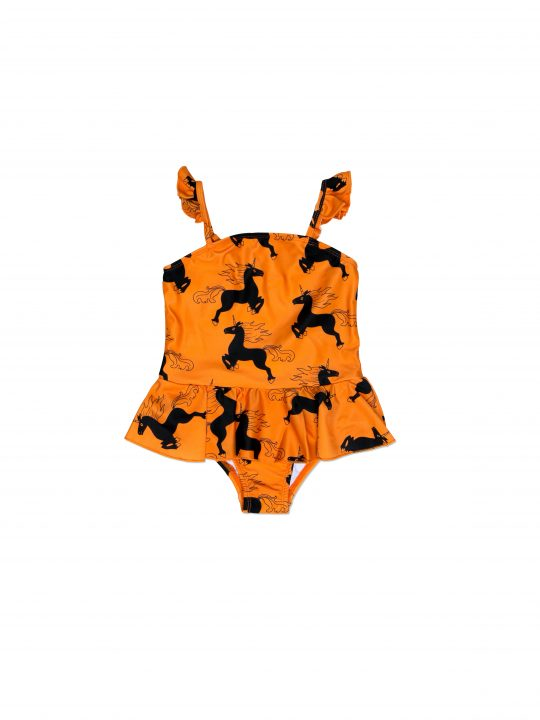 1616012528 1 mini rodini unicorn skirt swimsuit orange