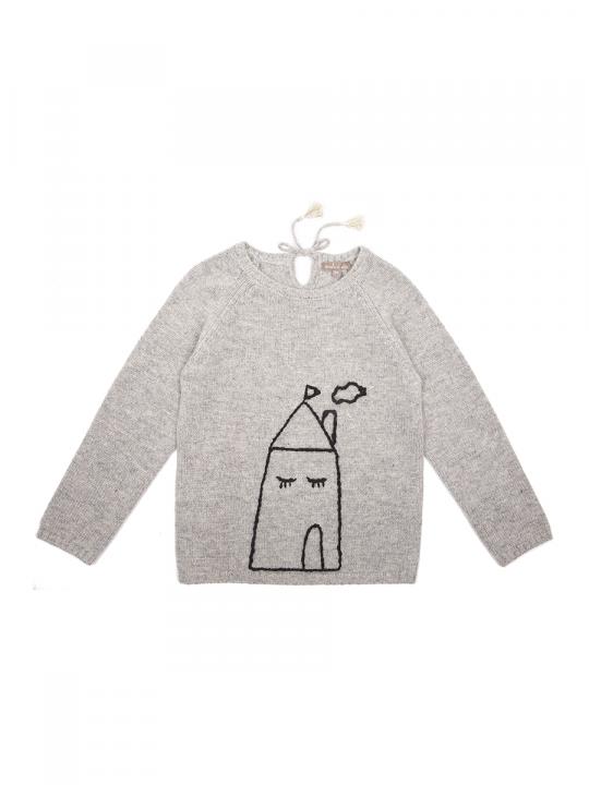 emile_et_ida_sweatshirt_knit_homesweethome_grey_lewardrobe
