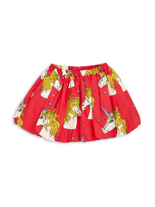 1713011242 mini rodini unicorn star woven skirt red 1