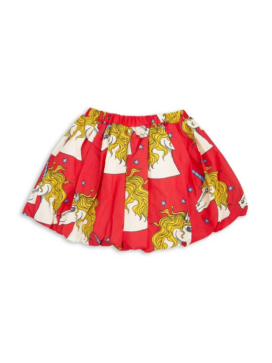 1713011242 mini rodini unicorn star woven skirt red 2