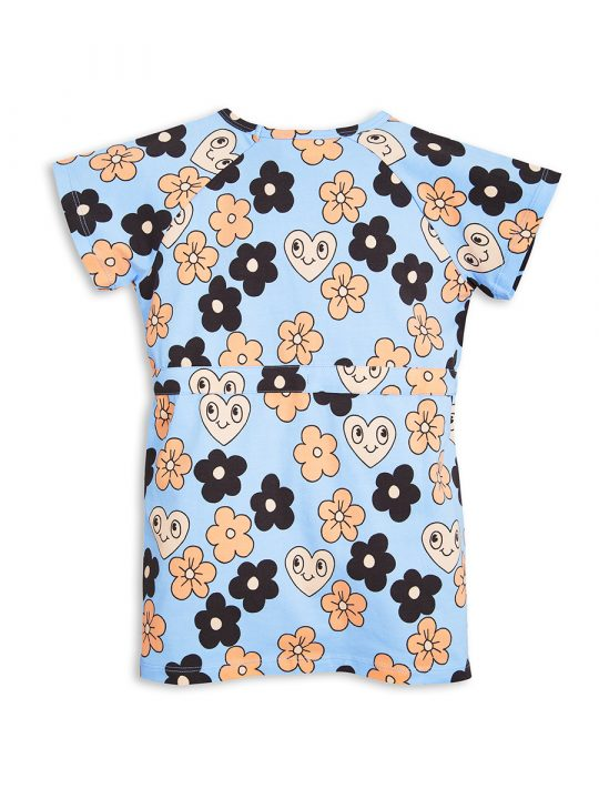 1715011150 2 mini rodini flowers tee dress light blue