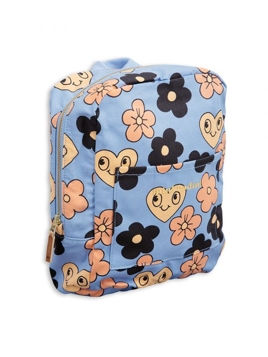 1716010050 1 mini rodini flowers backpack light blue