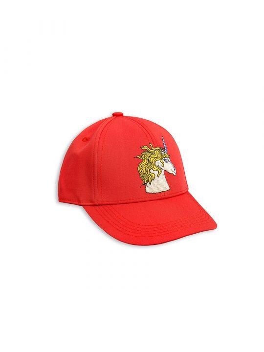 1716514442 1 mini rodini unicorn emb cap red