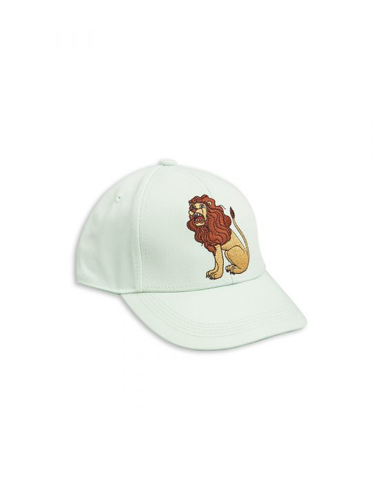 1716514473 1 mini rodini lion emb cap light green
