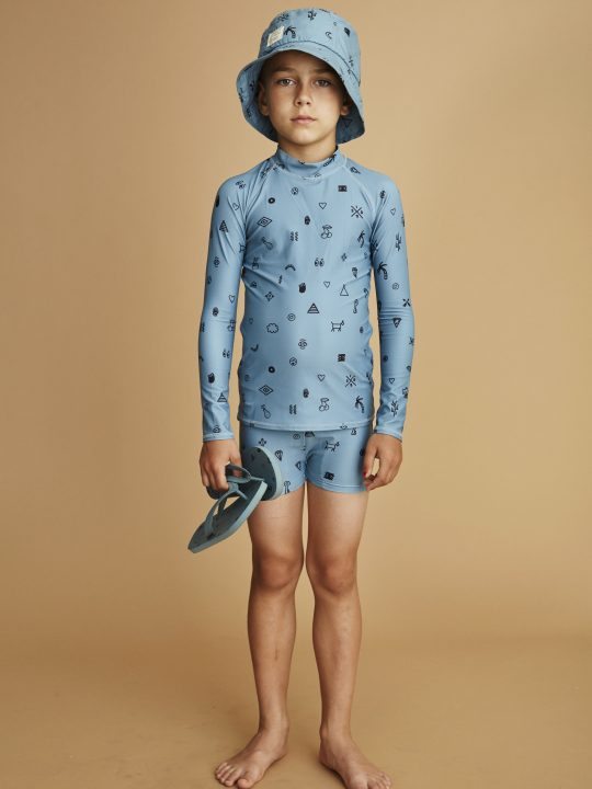 964-460-664 Astin Swim shirt Smoke Blue