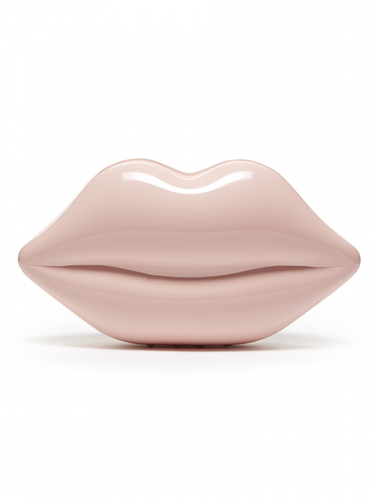 DUSKY PINK PERSPEX LIPS CLUTCH