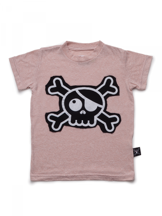 SKULL-PATCH-T-SHIRT-L-POWDER-PINK