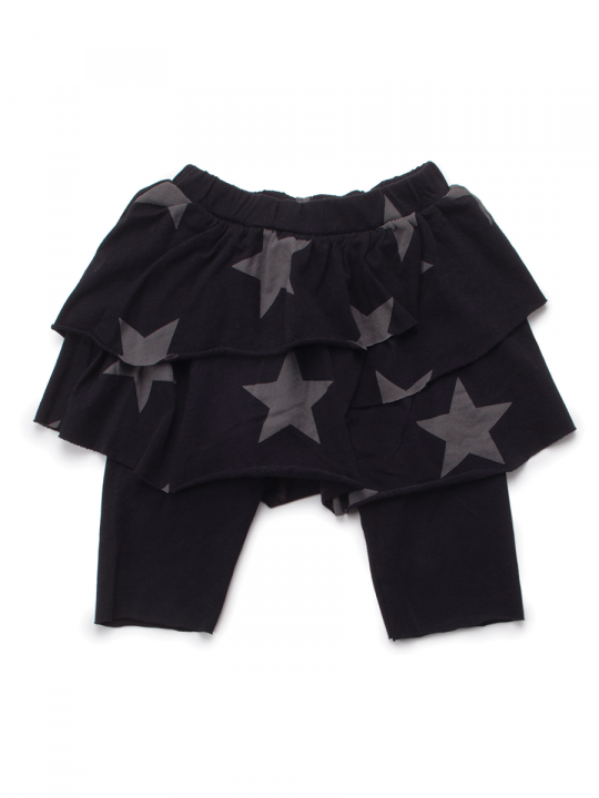 STAR-LEGGINGS-SKIRT-L-BLACK