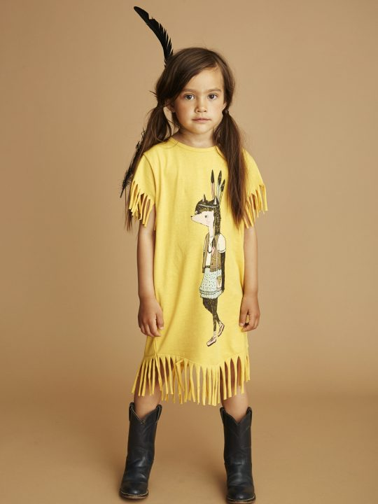 939-125-275 Cheri Dress Yolk Yellow