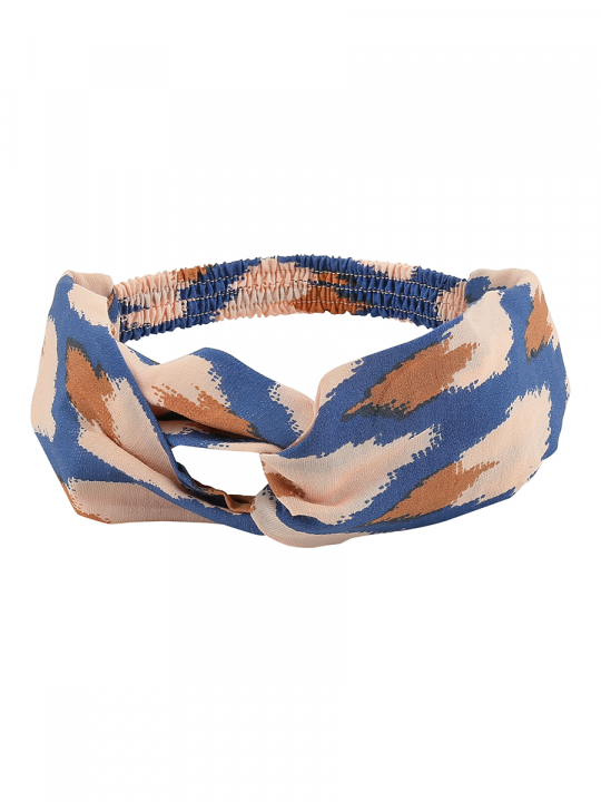 HAIRBAND Pale Blush AOP Ikat Blue_lewardrobe_softgallery