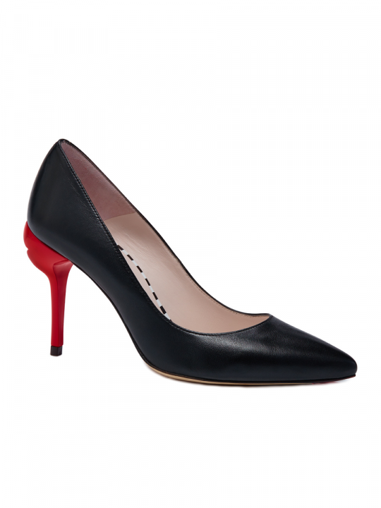 BLACK SMOOTH LEATHER BRIGETTE COURT_luluguinness_shoes