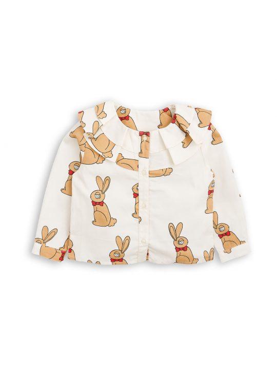 1772013111 1 mini rodini rabbit woven blouse offwhite