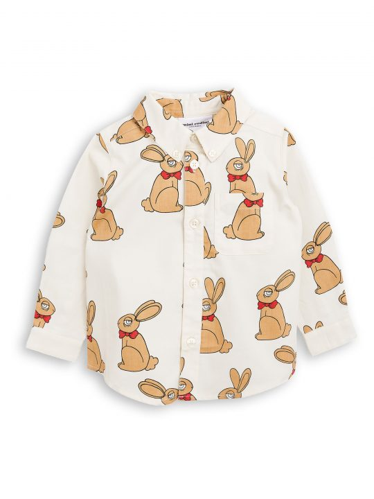 1772013211 1 mini rodini rabbit woven shirt offwhite
