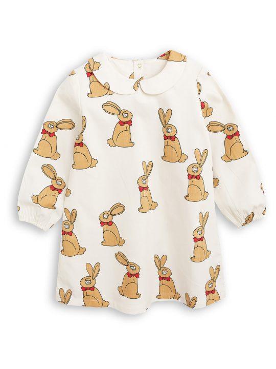 1775011811 1 mini rodini rabbit woven dress off white