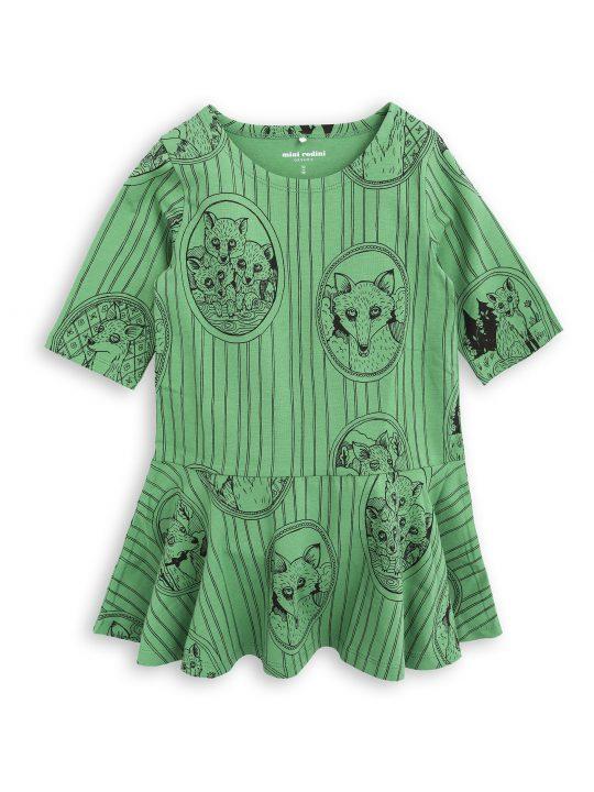 1775012375 1 mini rodini fox family dress green