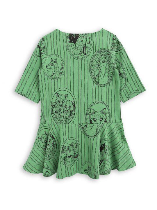 1775012375 2 mini rodini fox family dress green