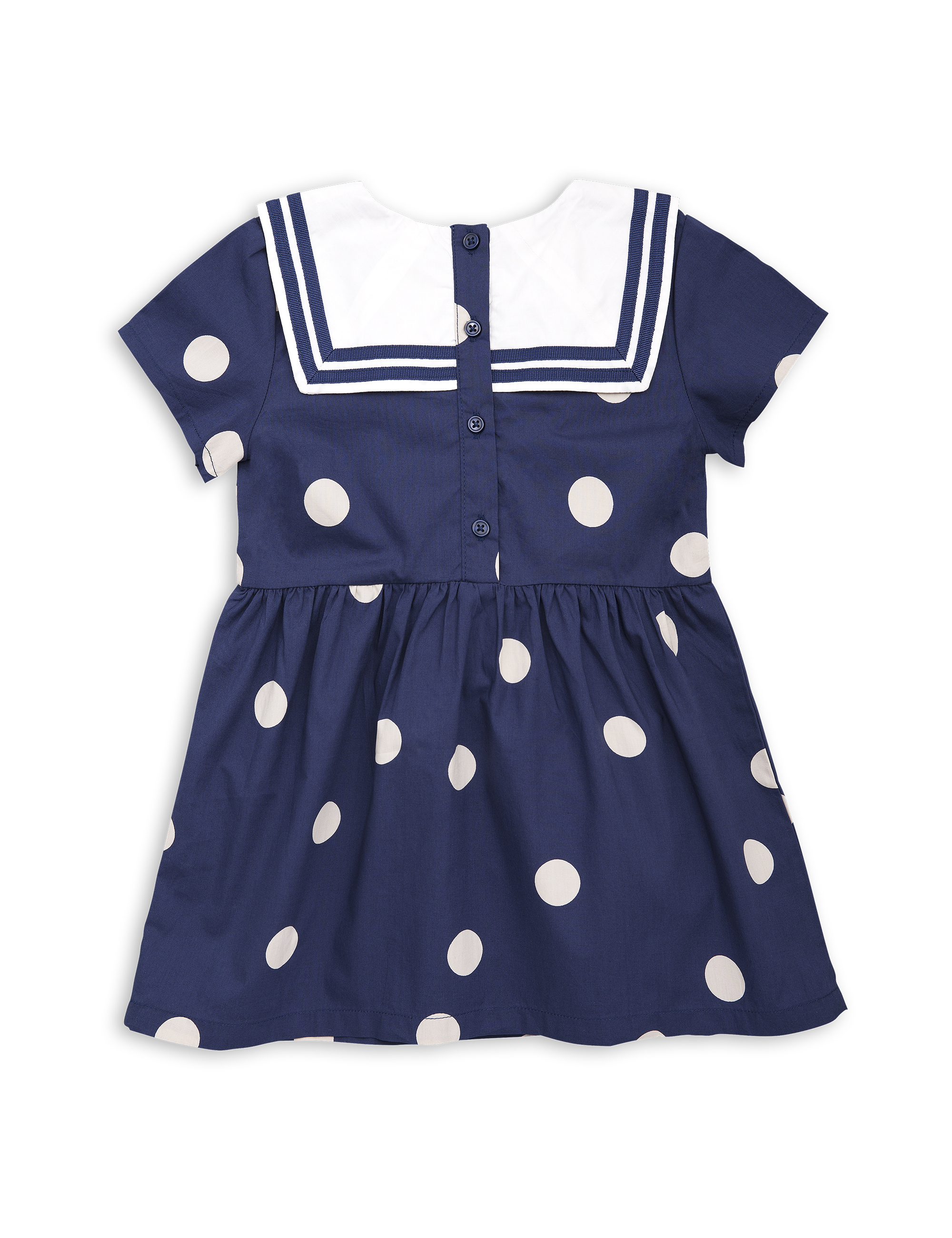 b4b0a99f170 DOT WOVEN SAILOR DRESS NAVY