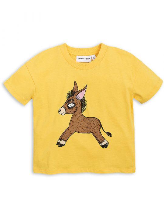 1822011023 1 mini rodini donkey sp ss tee yellow