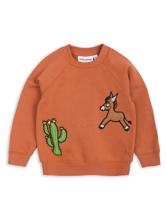 1822011326 1 mini rodini donkey cactus sweatshirt orange