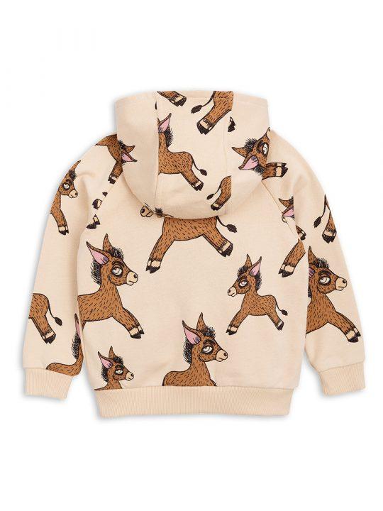 1822020313 2 mini rodini donkey aop zip hoodie beige