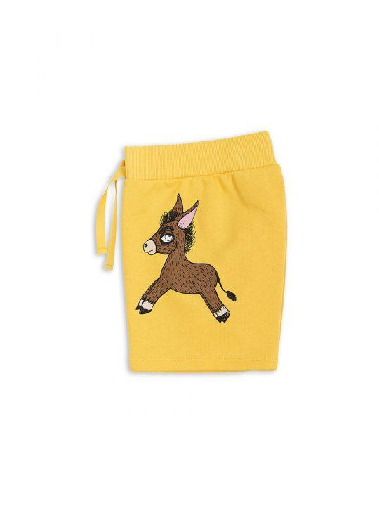 1823016123 3 mini rodini donkey sp sweatshorts yellow