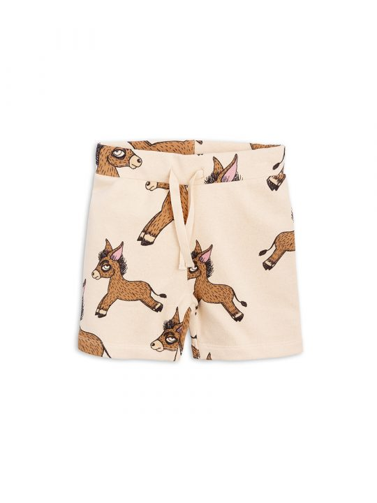 1823018513 1 mini rodini donkey aop sweatshorts beige