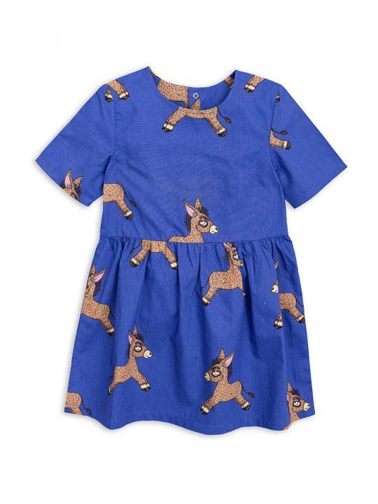 1825010260 1 mini rodini donkey woven dress blue
