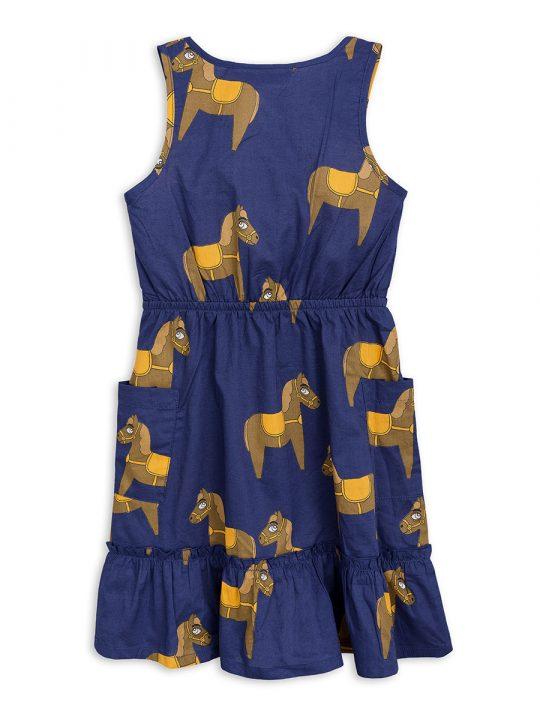 1825010667 2 mini rodini horse woven flounce dress navy