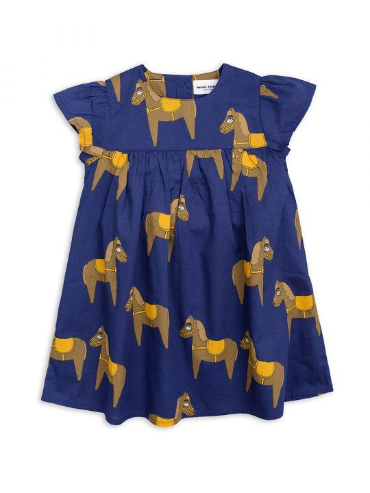 1825010567 1 mini rodini horse woven frill dress navy