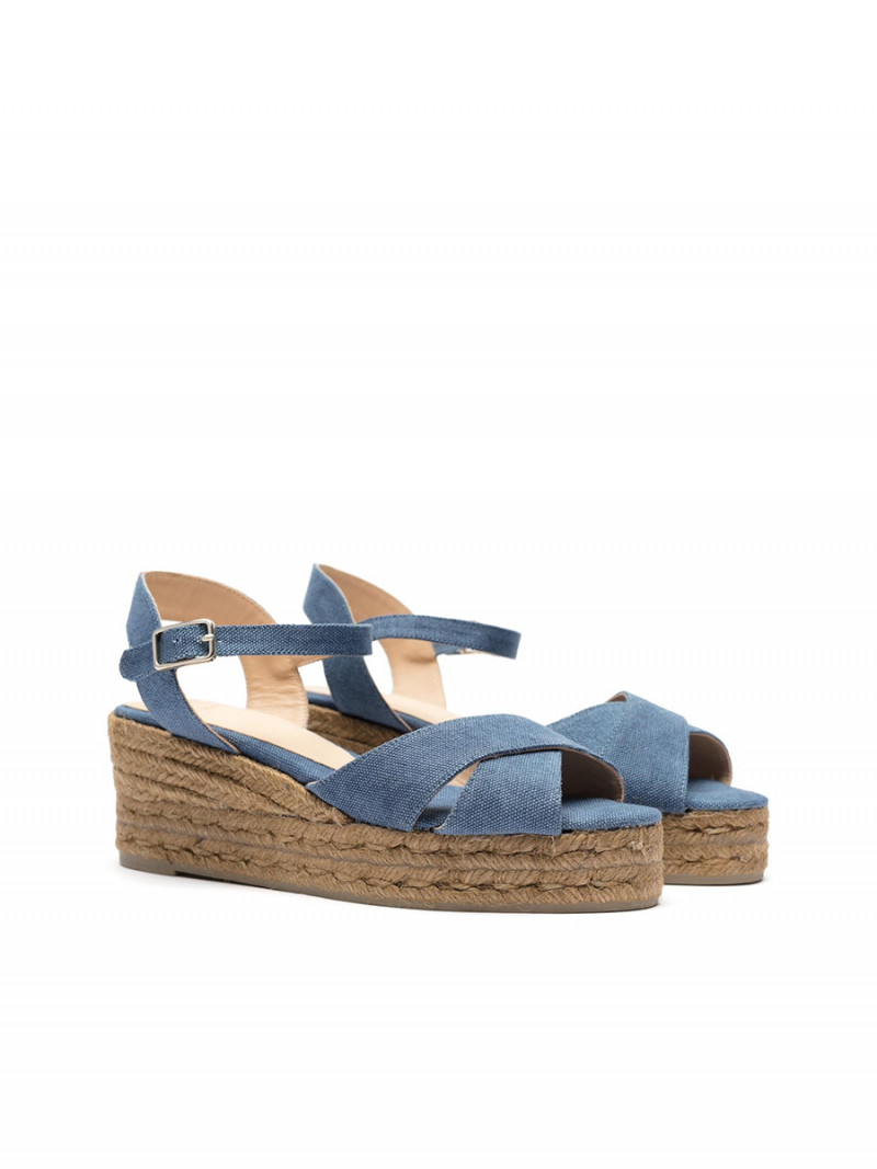 8d6c0267341 PEEP-TOE WEDGE ESPADRILLE WITH A CROSSED UPPER