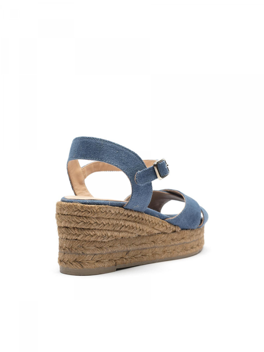 Peep-toe wedge espadrille with a crossed upper_le_wardrobe_castaner