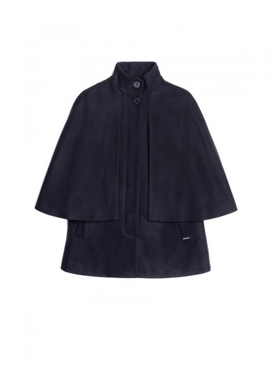 STE LUDIVINE Navy Wool-Blend Cape_saint_james_lewardrobe
