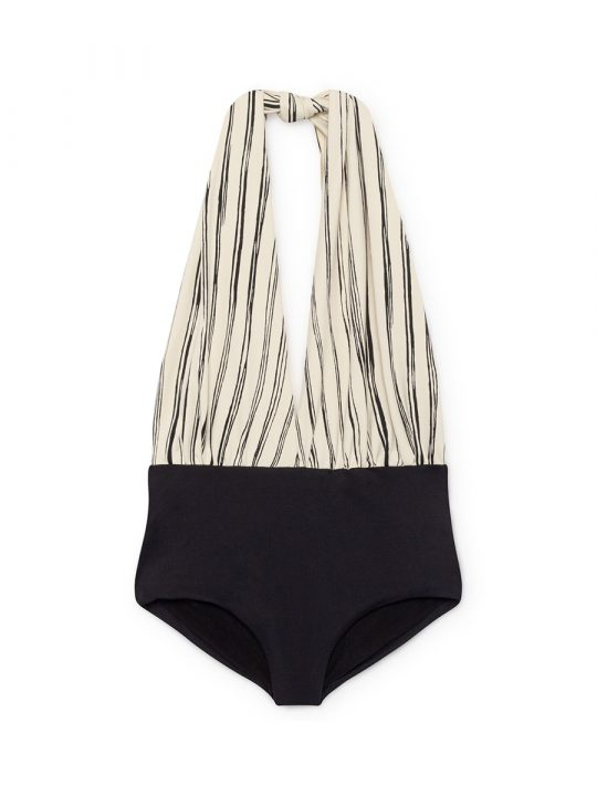 Bamboo Wrap bathing suit Black