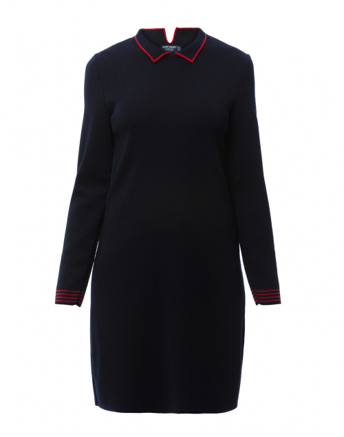 genevenavy wool sweater dress